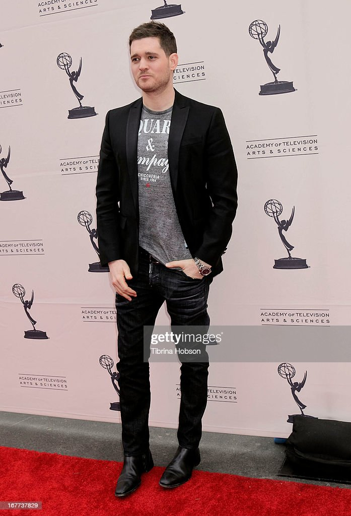<a gi-track='captionPersonalityLinkClicked' href=/galleries/search?phrase=Michael+Buble&family=editorial&specificpeople=215140 ng-click='$event.stopPropagation()'>Michael Buble</a> attends the Academy of Television Arts & Sciences presents an evening with <a gi-track='captionPersonalityLinkClicked' href=/galleries/search?phrase=Michael+Buble&family=editorial&specificpeople=215140 ng-click='$event.stopPropagation()'>Michael Buble</a> at the Wadsworth Theater on April 28, 2013 in Los Angeles, California.