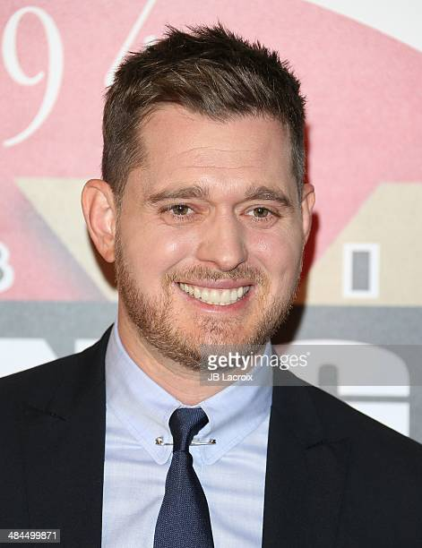 Michael Buble attends the Muhammad Ali's Celebrity Fight Night XX at JW Marriott Desert Ridge Resort Spa on April 12 2014 in Phoenix Arizona