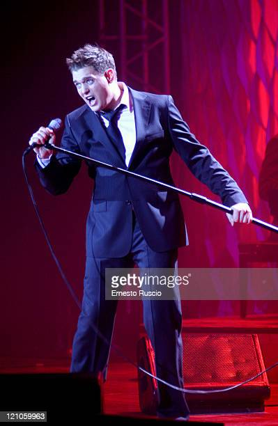 Michael Buble during Michael Buble in Concert at the Auditorium Parco Della Musica in Rome November 30 2005 at Auditorium Parco Della Musica in Rome...