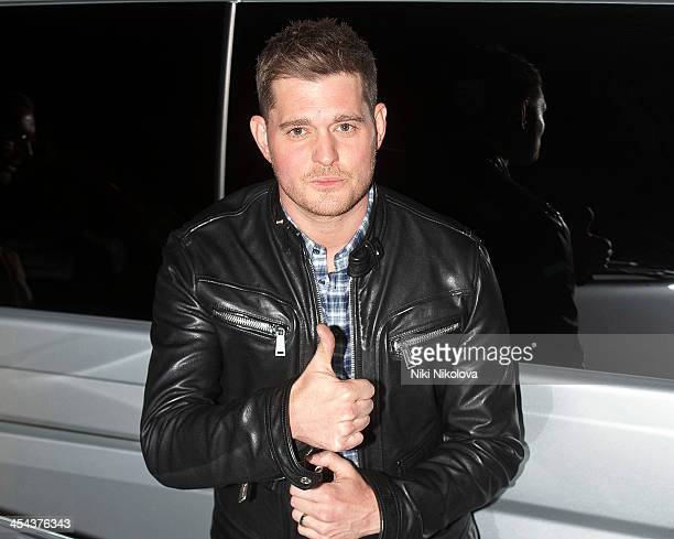 Michael Buble is seen leaving the XFactor studios on December 8 2013 in London England