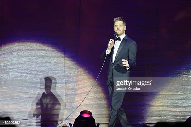 Michael Buble performs at 02 Arena on December 15 2014 in London England