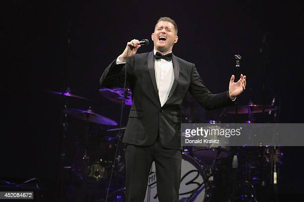 Michael Buble performs at Atlantic City Boardwalk Hall on July 12 2014 in Atlantic City New Jersey