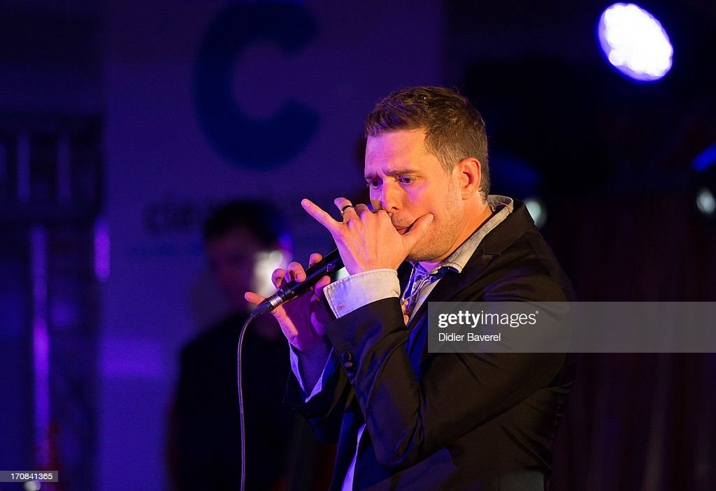 <a gi-track='captionPersonalityLinkClicked' href=/galleries/search?phrase=Michael+Buble&family=editorial&specificpeople=215140 ng-click='$event.stopPropagation()'>Michael Buble</a> performs at Clear Channel Media and Entertainment and MediaLink VIP Event at Hotel Du Cap-Eden-Roc on June 18, 2013 in Cannes, France.