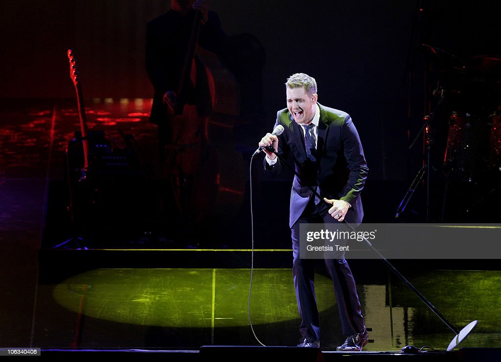 Michael Buble performs live at Gelredome on October 28 2010 in Arnhem Netherlands