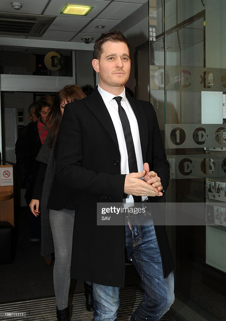 <a gi-track='captionPersonalityLinkClicked' href=/galleries/search?phrase=Michael+Buble&family=editorial&specificpeople=215140 ng-click='$event.stopPropagation()'>Michael Buble</a> pictured at Radio 1 on November 19, 2012 in London, England.