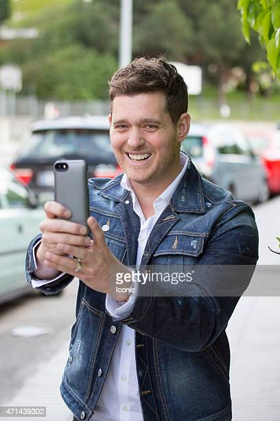 Michael Buble sighting on April 28 2015 in Madrid Spain