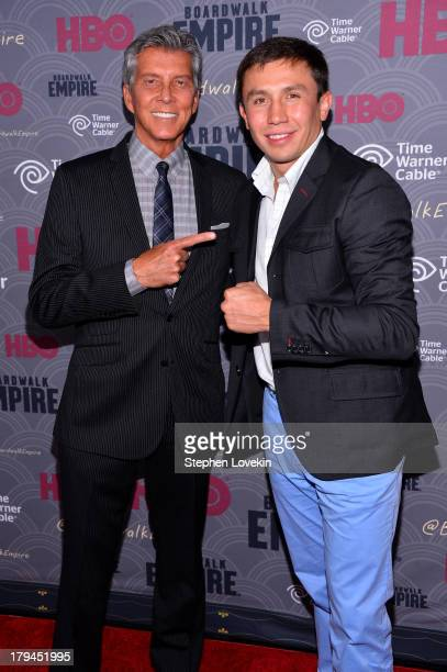 Michael Buffer and Gennady Golovkin attend the 'Boardwalk Empire' season four New York premiere at Ziegfeld Theater on September 3 2013 in New York...