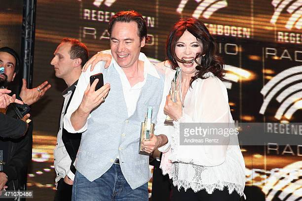 Michael 'Bully' Herbig and Iris Berben attend the Radio Regenbogen Award 2015 at Europapark on April 24 2015 in Rust Germany