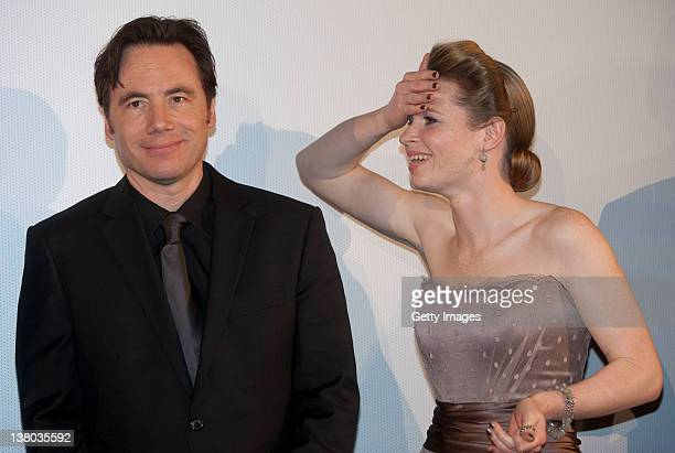 Michael Bully Herbig and Karoline Herfurth attend the premiere of 'Zettl' at the Mathaeser Filmpalast on January 31 2012 in Munich Germany