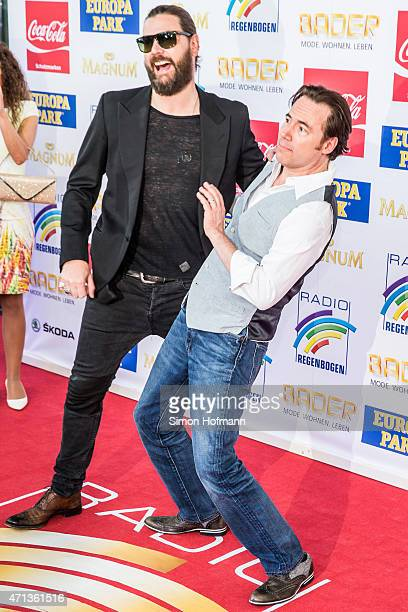 Michael 'Bully' Herbig and Rea Garvey attend the Radio Regebenbogen Award Show 2015 at Europapark on April 24 2015 in Rust Germany