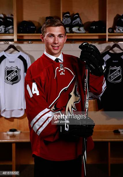 Michael Bunting 117th overall pick of the Arizona Coyotes poses for a portrait during the 2014 NHL Entry Draft at Wells Fargo Center on June 28 2014...