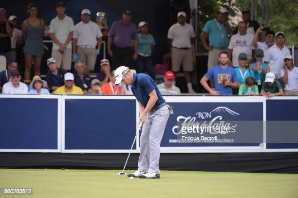 Michael Buttacavoli of the United States during the final round of the PGA TOUR Latinoamérica Flor de Cana Open at Mukul Beach Golf and Spa on...