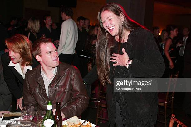 Michael C Hall and Camryn Manheim during LA Premiere of HBO's series 'Six Feet Under' After Party at The Highlands in Hollywood CA United States