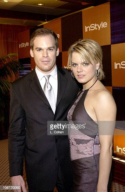 Michael C Hall and guest during InStyle Magazine Hosts Fourth Annual PostGolden Globes Party to Honor Hollywood's Elite Arrivals at The Beverly...