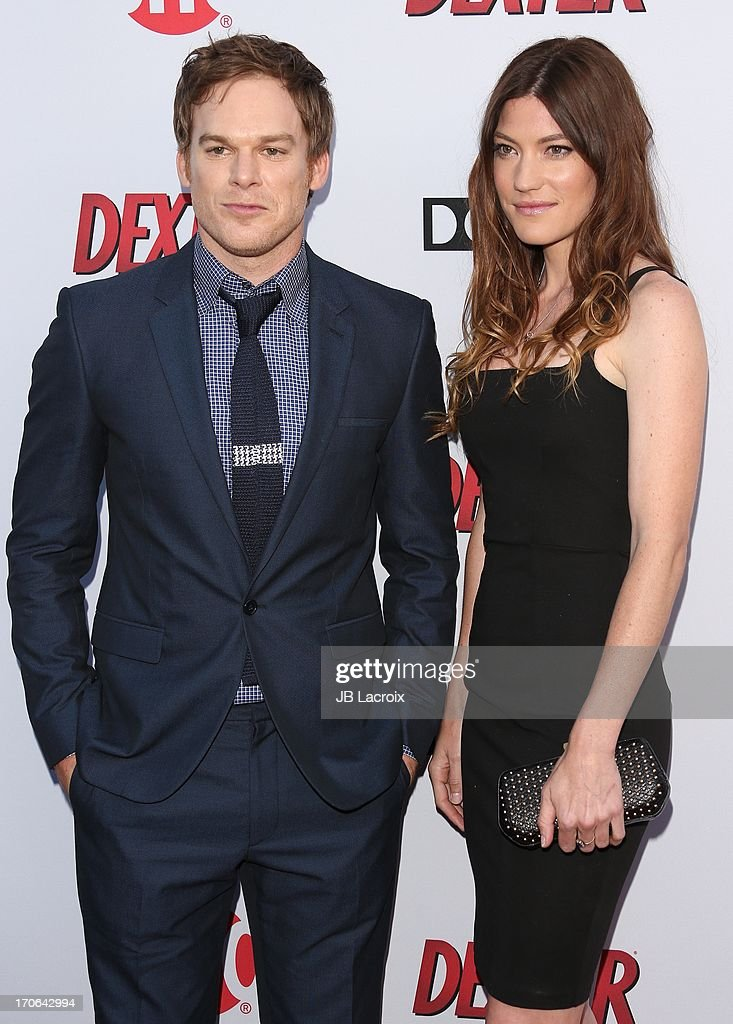 <a gi-track='captionPersonalityLinkClicked' href=/galleries/search?phrase=Michael+C.+Hall+-+Actor&family=editorial&specificpeople=680229 ng-click='$event.stopPropagation()'>Michael C. Hall</a> and <a gi-track='captionPersonalityLinkClicked' href=/galleries/search?phrase=Jennifer+Carpenter&family=editorial&specificpeople=595643 ng-click='$event.stopPropagation()'>Jennifer Carpenter</a> attends the 'Dexter' series finale season premiere party at Milk Studios on June 15, 2013 in Hollywood, California.