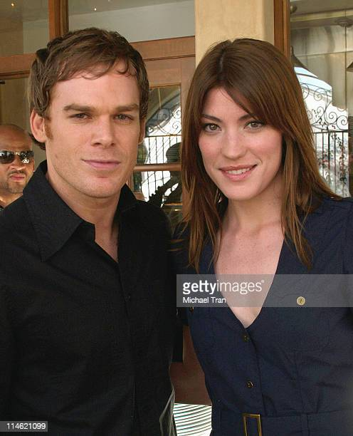 Michael C Hall and Jennifer Carpenter during Showtime Championship Boxing Hosts 'No Risk No Reward' Tailgate Party at Liberty Grill in Los Angeles...