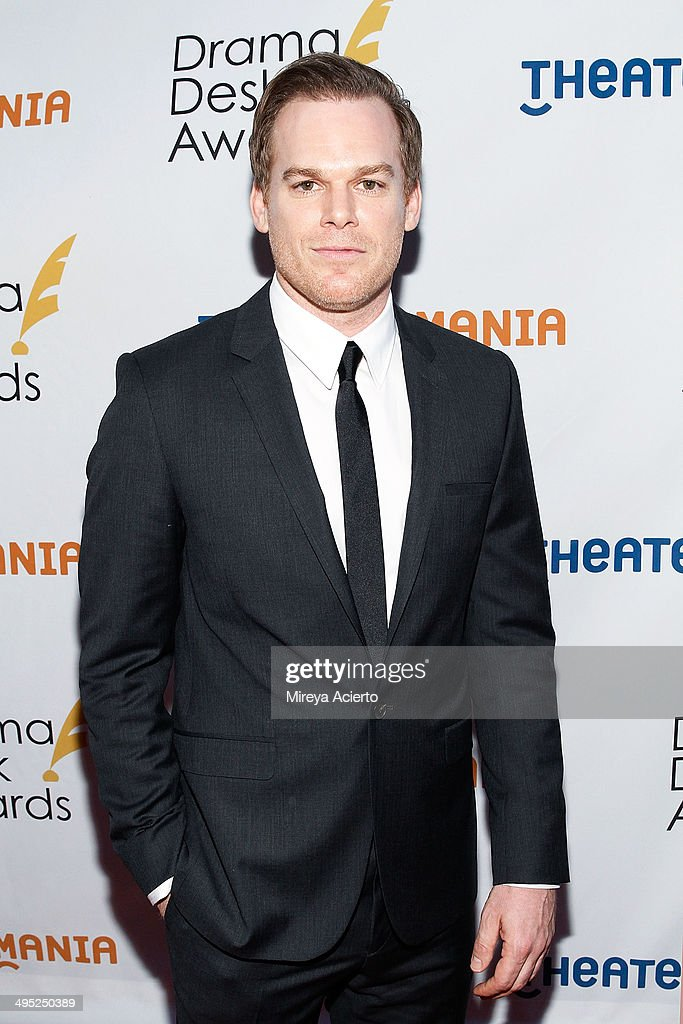 <a gi-track='captionPersonalityLinkClicked' href=/galleries/search?phrase=Michael+C.+Hall+-+Actor&family=editorial&specificpeople=680229 ng-click='$event.stopPropagation()'>Michael C. Hall</a> attends the 2014 Drama Desk Awards at Town Hall on June 1, 2014 in New York City.