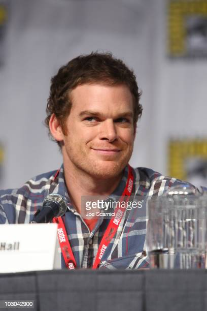 Michael C Hall attends the AntiHeros panel on Day 1 of the 2010 ComicCon International at San Diego Convention Center on July 22 2010 in San Diego...