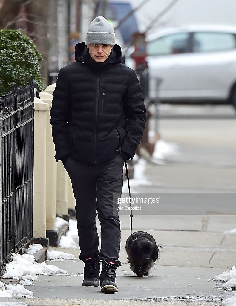 Michael C Hall is seen in the West Village on February 23 2015 in New York City