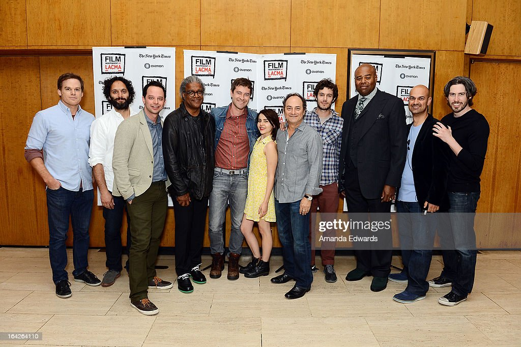 <a gi-track='captionPersonalityLinkClicked' href=/galleries/search?phrase=Michael+C.+Hall+-+Actor&family=editorial&specificpeople=680229 ng-click='$event.stopPropagation()'>Michael C. Hall</a>, Jason Mantzoukas, <a gi-track='captionPersonalityLinkClicked' href=/galleries/search?phrase=Nick+Kroll&family=editorial&specificpeople=4432339 ng-click='$event.stopPropagation()'>Nick Kroll</a>, <a gi-track='captionPersonalityLinkClicked' href=/galleries/search?phrase=Elvis+Mitchell&family=editorial&specificpeople=567104 ng-click='$event.stopPropagation()'>Elvis Mitchell</a>, <a gi-track='captionPersonalityLinkClicked' href=/galleries/search?phrase=Mark+Duplass&family=editorial&specificpeople=572703 ng-click='$event.stopPropagation()'>Mark Duplass</a>, <a gi-track='captionPersonalityLinkClicked' href=/galleries/search?phrase=Mae+Whitman&family=editorial&specificpeople=614218 ng-click='$event.stopPropagation()'>Mae Whitman</a>, <a gi-track='captionPersonalityLinkClicked' href=/galleries/search?phrase=Kevin+Pollak+-+Actor&family=editorial&specificpeople=233482 ng-click='$event.stopPropagation()'>Kevin Pollak</a>, <a gi-track='captionPersonalityLinkClicked' href=/galleries/search?phrase=Adam+Brody&family=editorial&specificpeople=213610 ng-click='$event.stopPropagation()'>Adam Brody</a>, <a gi-track='captionPersonalityLinkClicked' href=/galleries/search?phrase=Chi+McBride&family=editorial&specificpeople=227026 ng-click='$event.stopPropagation()'>Chi McBride</a>, Ralph Rivera and director <a gi-track='captionPersonalityLinkClicked' href=/galleries/search?phrase=Jason+Reitman&family=editorial&specificpeople=627880 ng-click='$event.stopPropagation()'>Jason Reitman</a> attend the Film Independent at LACMA - Live Reading Series with <a gi-track='captionPersonalityLinkClicked' href=/galleries/search?phrase=Jason+Reitman&family=editorial&specificpeople=627880 ng-click='$event.stopPropagation()'>Jason Reitman</a> of 'The Usual Suspects' at the Bing Theatre At LACMA on March 21, 2013 in L