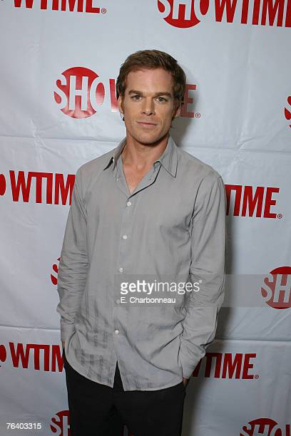 BEVERLY HILLS CA JULY 14 Michael C Hall of 'Dexter' poses in the green room at Showtime's TCA at the Beverly Hilton on July 14 2007 in Beverly Hills...