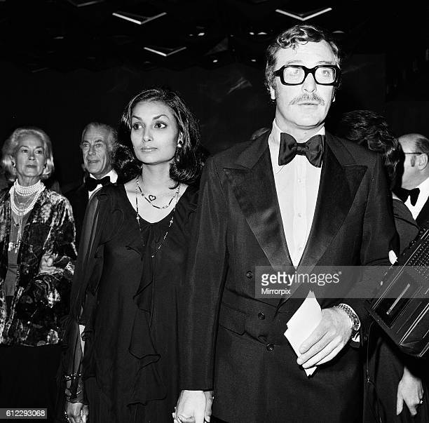 Michael Caine and wife Shakira at the Premiere of 'Gold' 5th September 1974