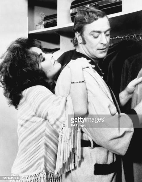 Michael Caine as Robert Blakeley and Elizabeth Taylor as his onscreen wife Zee in a film about a bickering couple whose marriage is on its last legs