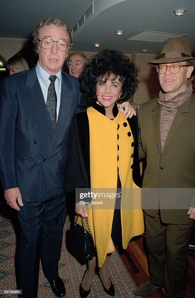 Michael Caine, Elizabeth Taylor and <a gi-track='captionPersonalityLinkClicked' href=/galleries/search?phrase=Elton+John&family=editorial&specificpeople=171369 ng-click='$event.stopPropagation()'>Elton John</a> at the launch of the AIDS Crisis Trust, 5th November 1991.