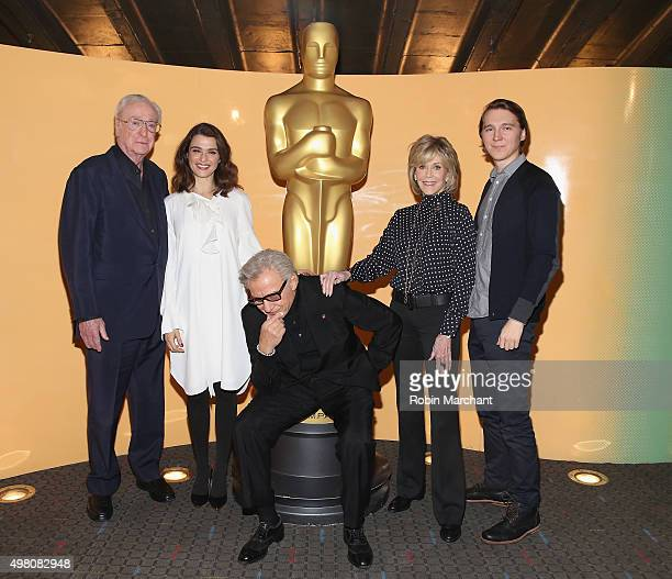 Michael Caine Rachel Weisz Harvey Keitel Jane Fonda and Paul Dano attend The Academy Of Motion Picture Arts And Sciences Hosts An Official Academy...