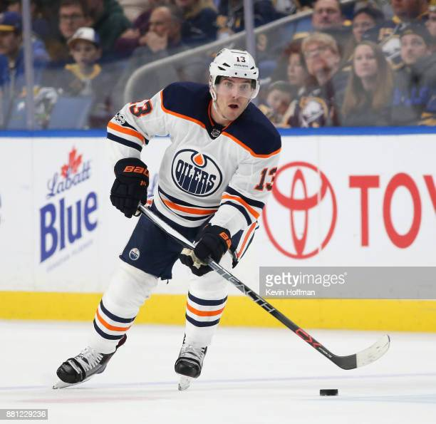 Michael Cammalleri of the Edmonton Oilers during the game against the Buffalo Sabres at the KeyBank Center on November 24 2017 in Buffalo New York