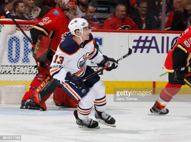 Michael Cammalleri of the Edmonton Oilers skates against the Calgary Flames at Scotiabank Saddledome on December 2 2017 in Calgary Alberta Canada