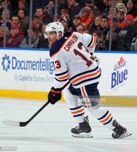 Michael Cammalleri of the Edmonton Oilers skates during an NHL game against the Buffalo Sabres on November 24 2017 at KeyBank Center in Buffalo New...