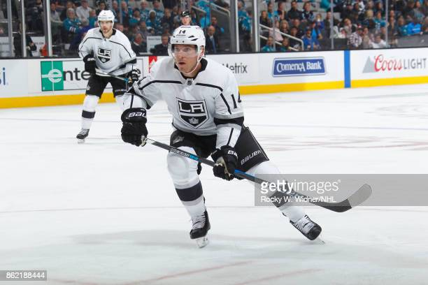Michael Cammalleri of the Los Angeles Kings looks during a NHL game against the San Jose Sharks at SAP Center on October 7 2017 in San Jose California