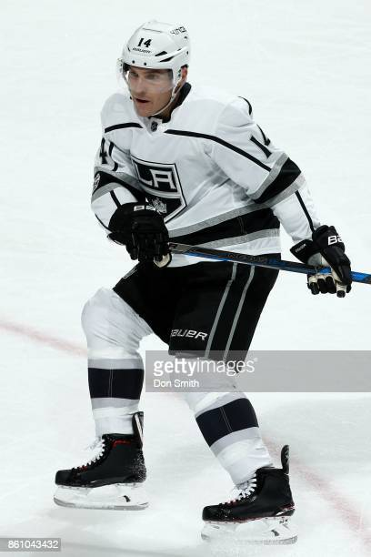 Michael Cammalleri of the Los Angeles Kings skates during a NHL game against the San Jose Sharks at SAP Center at San Jose on October 7 2017 in San...