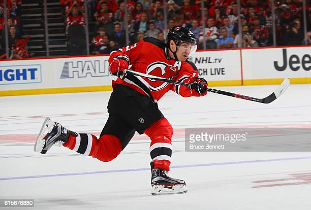 Michael Cammalleri of the New Jersey Devils skates against the Anaheim Ducks at the Prudential Center on October 18 2016 in Newark New Jersey