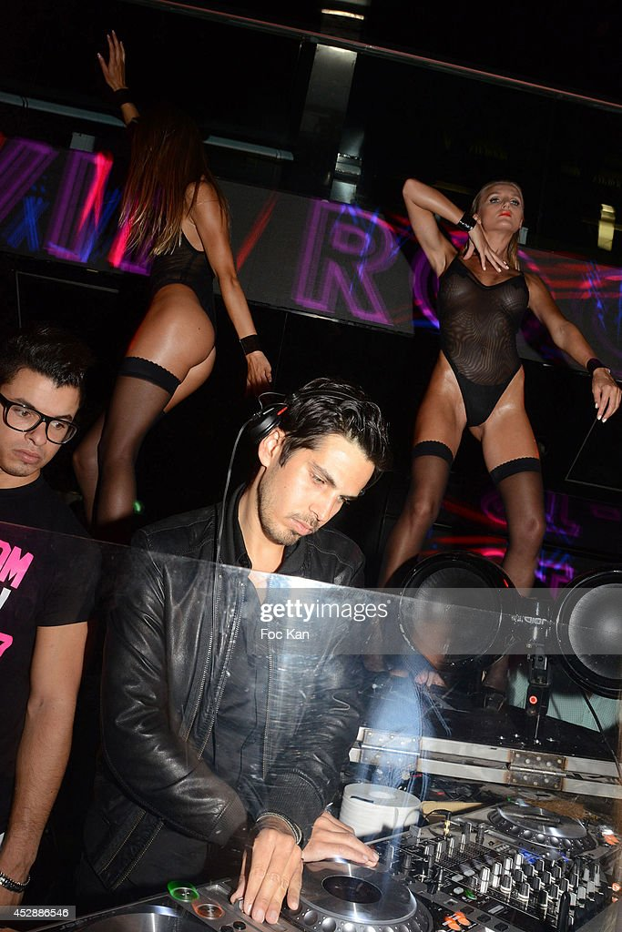 DJ Michael Canitrot performs during the DJ Canitrot Party VIP Room Saint Tropez July 28, 2014 in Saint Tropez, France.