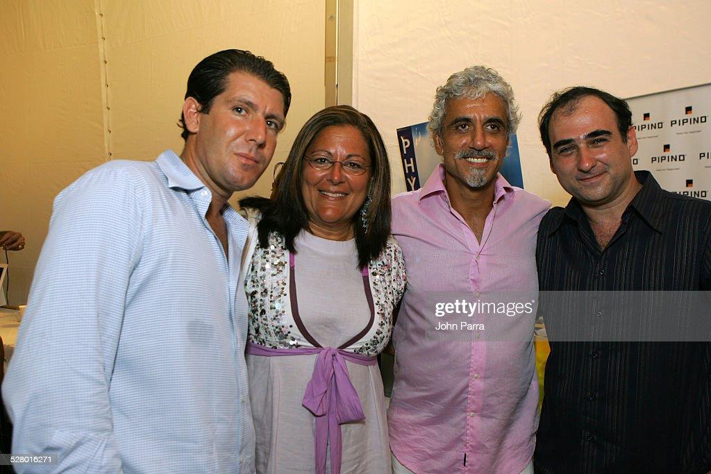 Michael Capponi, Fern Mallis, Ric Pipino and Amir Slama, designer backstage at Sais by Rosa Cha