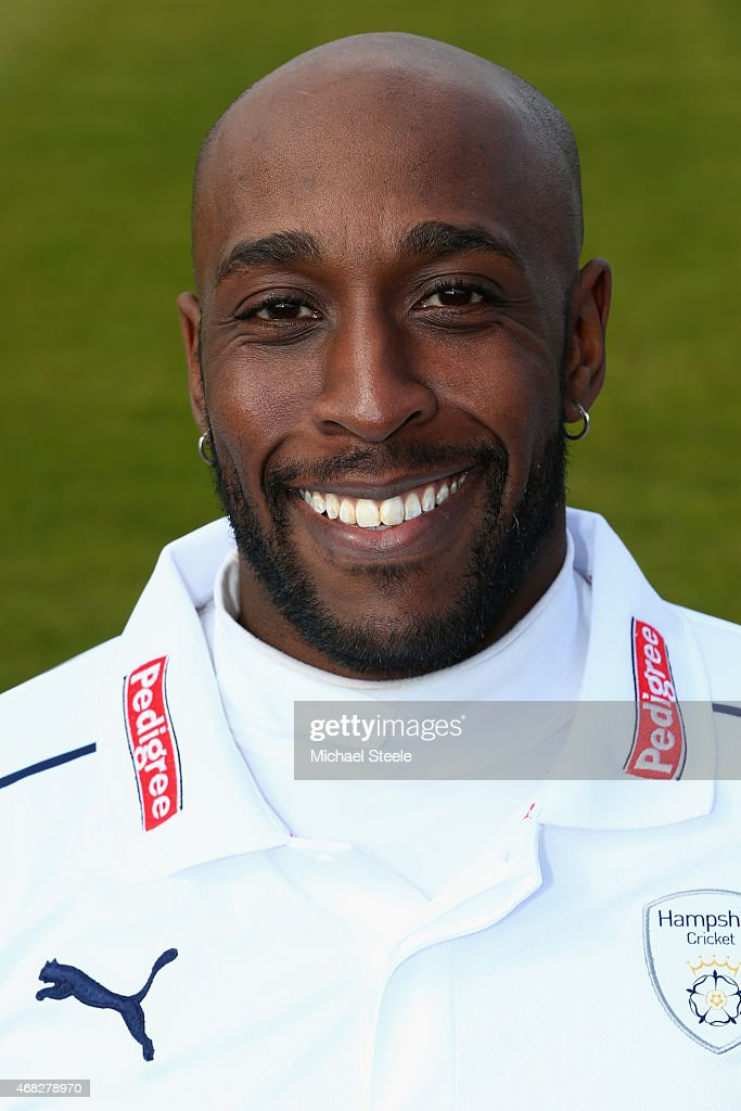 Michael Carberry of Hampshire during the Hampshire CCC Photocall at the Ageas Bowl on April 1 2015 in Southampton England