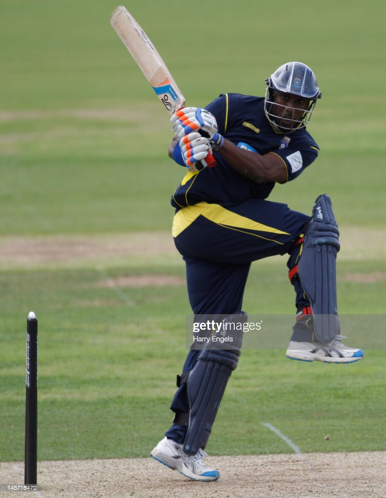 Michael Carberry of Hampshire picks up some runs during the Clydesdale Bank Pro40 match between the Hampshire Royals and the Scottish Saltires on June 4, 2012 in Southampton, England.