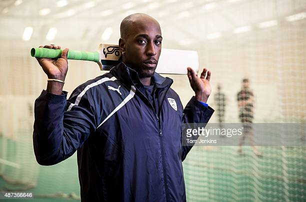 Michael Carberry the Hampshire and England cricketer poses for a portrait in the indoor nets at the Ageas Oval on March 28th 2014 in Southampton
