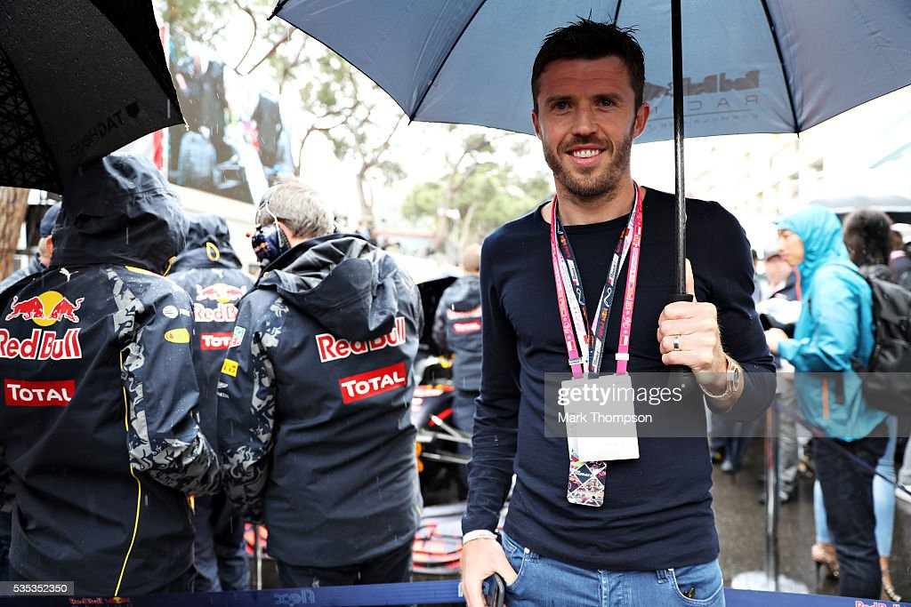 <a gi-track='captionPersonalityLinkClicked' href=/galleries/search?phrase=Michael+Carrick&family=editorial&specificpeople=214599 ng-click='$event.stopPropagation()'>Michael Carrick</a>, football player, on the grid by Red Bull Racing during the Monaco Formula One Grand Prix at Circuit de Monaco on May 29, 2016 in Monte-Carlo, Monaco.