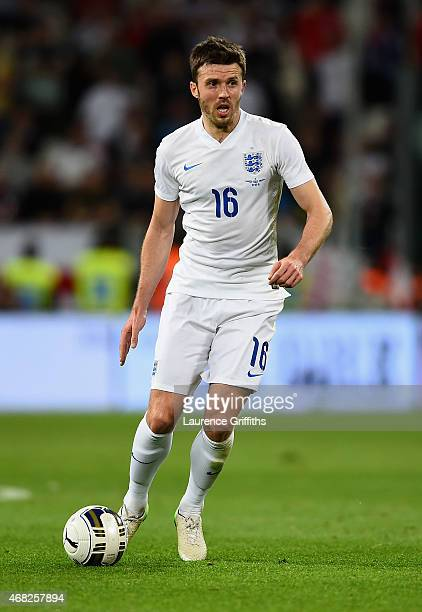 Michael Carrick of England in action during the International Friendly match between Italy and England at Juventus Stadium on March 31 2015 in Turin...