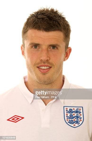 Michael Carrick of England poses during the official FIFA World Cup 2010 portrait session on June 4 2010 in Rustenburg South Africa