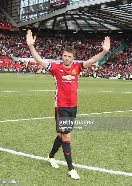 Michael Carrick of Manchester United '08 XI walks off after the Michael Carrick Testimonial match between Manchester United '08 XI and Michael...