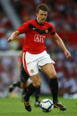 Michael Carrick of Manchester United during a pre season friendly match between Manchester United and Vallencia at Old Trafford on August 5 2009 in...