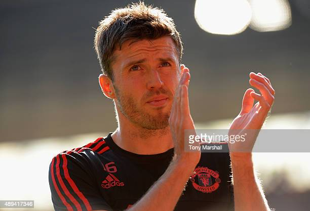 Michael Carrick of Manchester United during the Barclays Premier League match between Southampton and Manchester United at St Mary's Stadium on...
