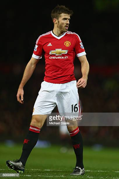 Michael Carrick of Manchester United during the Barclays Premier League match between Manchester United and West Ham United at Old Trafford on...