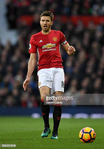 Michael Carrick of Manchester United during the Premier League match between Manchester United and Sunderland at Old Trafford on December 26 2016 in...