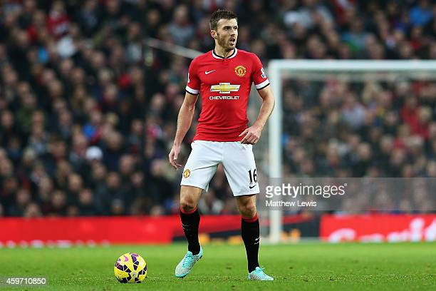 Michael Carrick of Manchester United in action during the Barclays Premier League match between Manchester United and Hull City at Old Trafford on...
