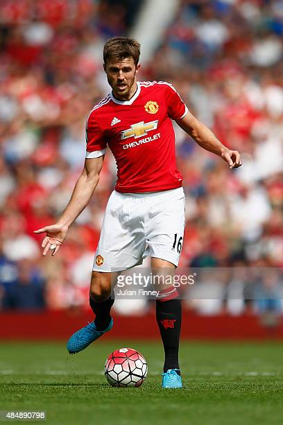 Michael Carrick of Manchester United in action during the Barclays Premier League match between Manchester United and Newcastle United at Old...